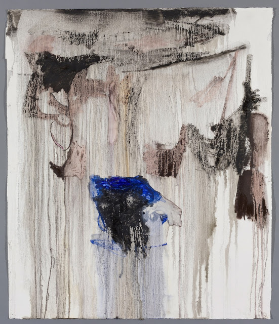 Anastasia Pelias,  Joan,  2016 oil stick and gesso on Arches paper 51.5 x 44 in SOLD