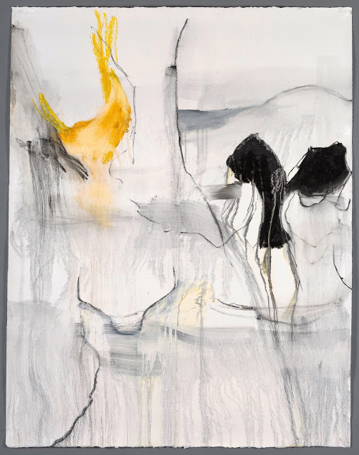 Anastasia Pelias,  Nina , 2016 oil stick and gesso on Arches paper 57 x 45.75 in. $8100