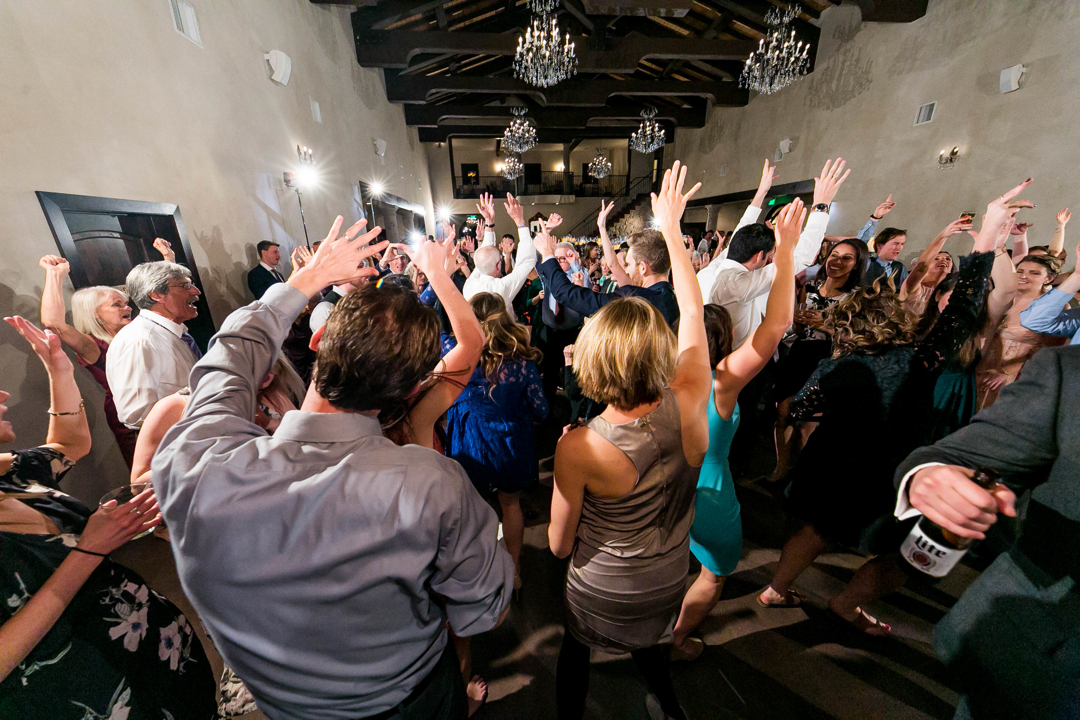 When we say we get everyone on the dance floor it's not just a figure of speech! This was another destination wedding. Mostly folks from Chicago. In our experience, they're tied with Holland for rowdiest party-people!