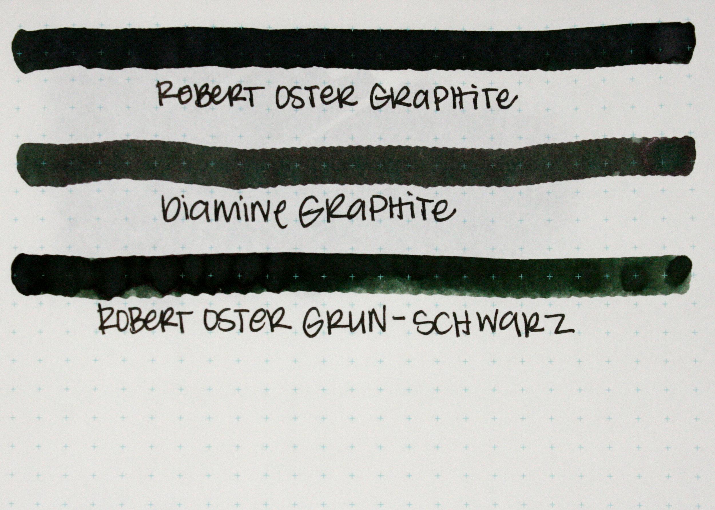 Similar inks: - Graphite is similar to Robert Oster Grun-Schwarz.