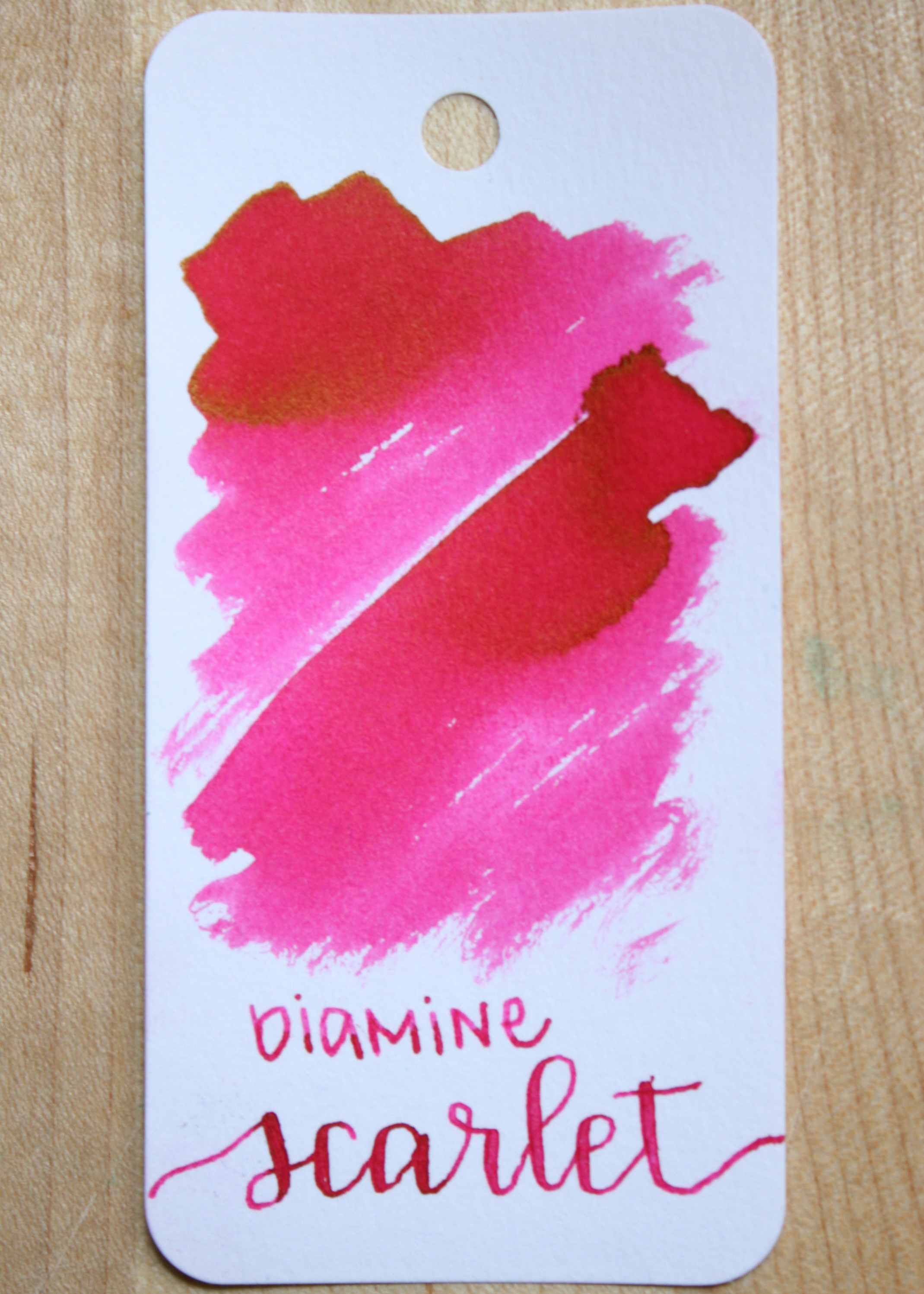The color... - Scarlet is a bright pink, with gold sheen. Seasonally, I think this is a summer pink.