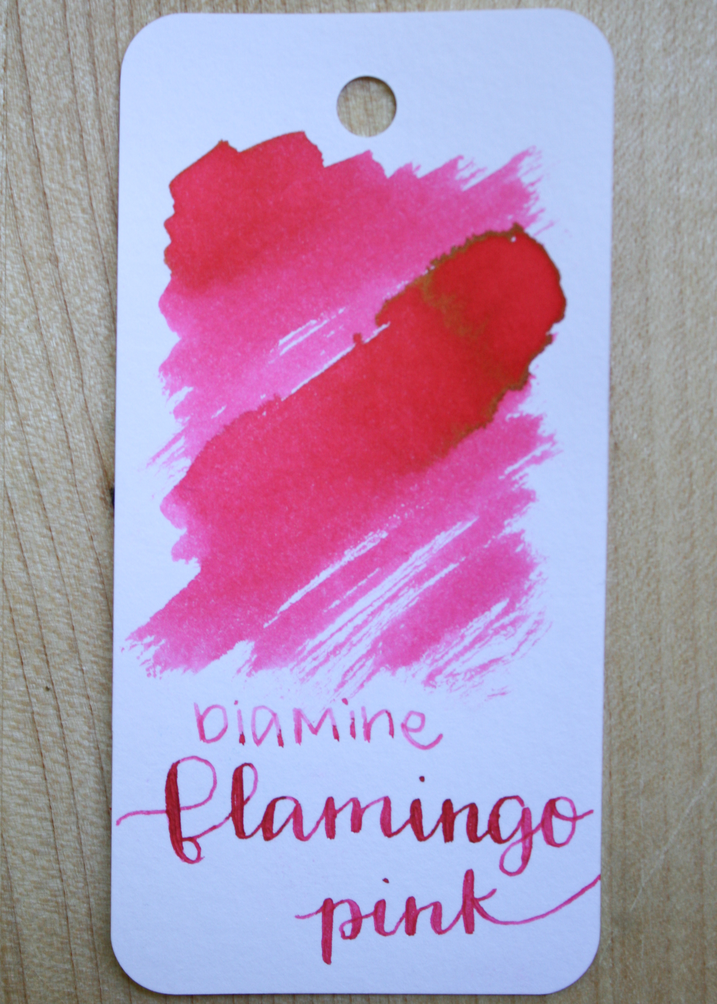 The color... - Flamingo Pink is a bright pink, with almost a coral tone to it. There is a little bit of gold sheen to it.