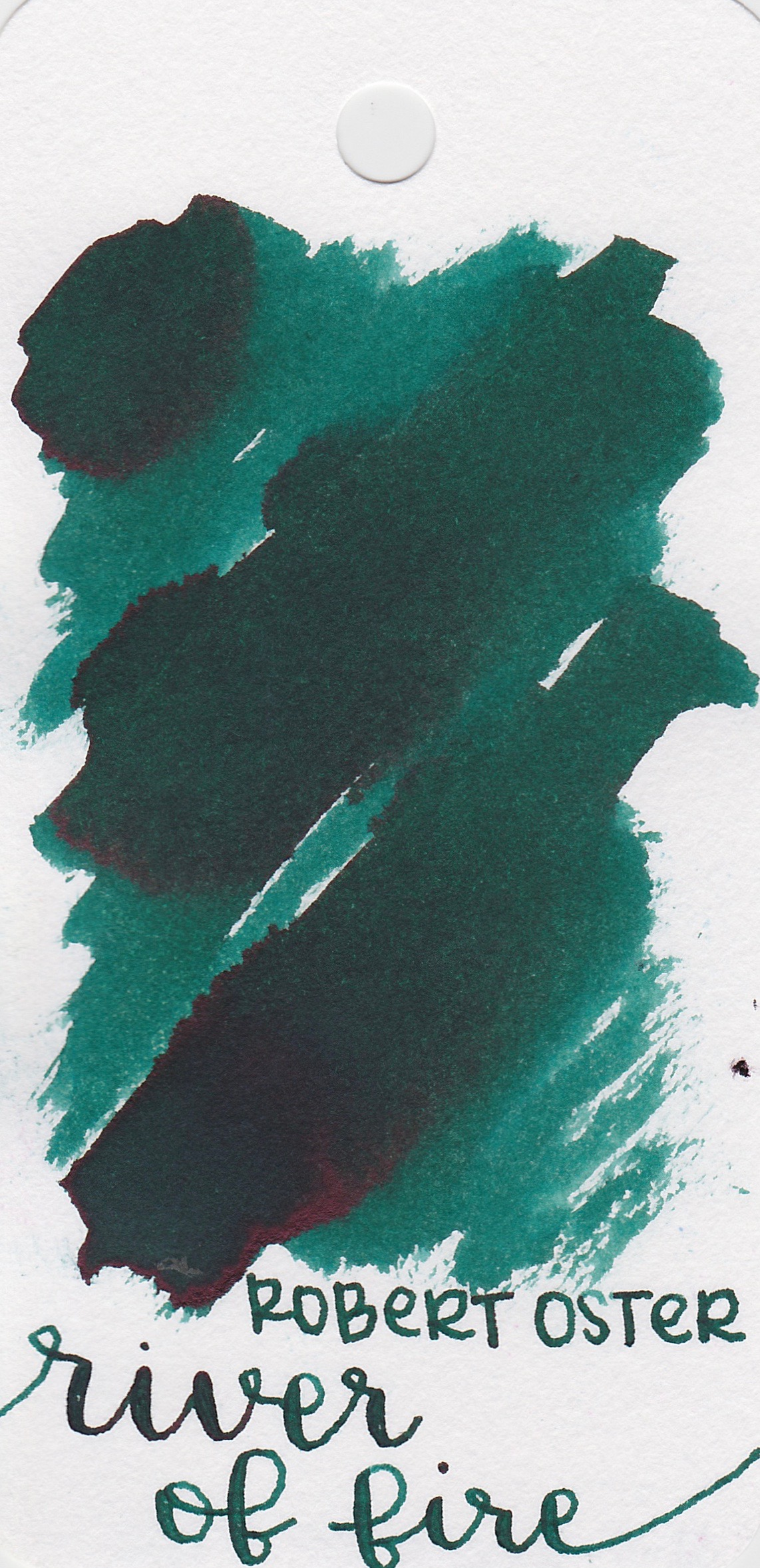 The color... - River of Fire is a green with pink sheen.