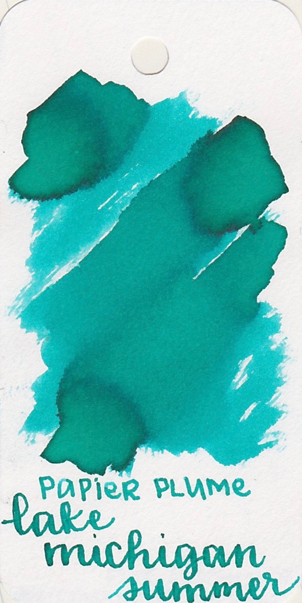 The color... - Lake Michigan Summer is a medium Teal with some shading.