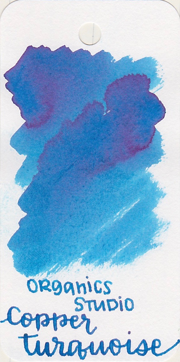 The color... - Copper turquoise is a light blue with pink sheen.