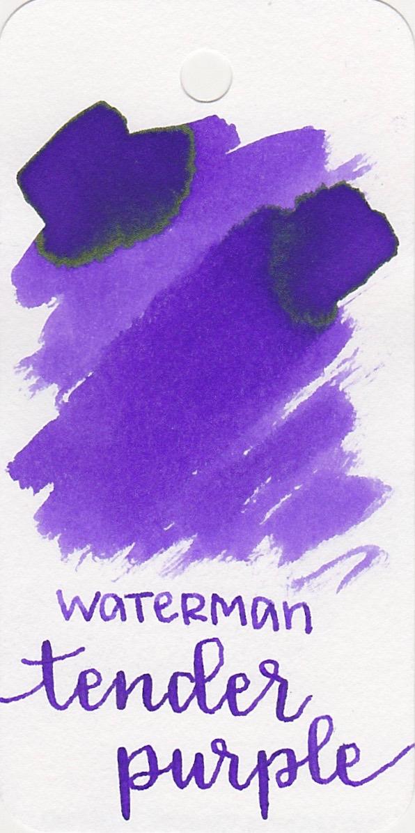 Waterman Tender Purple - Tender Purple is a great vibrant purple with sheen in large swabs.
