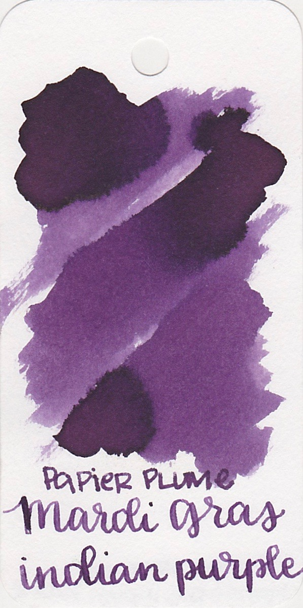 The color... - MGIP is a dark purple with no sheen. Seasonally, I would use this ink in the fall.