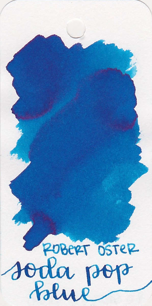 The color... - Soda Pop Blue is a medium blue with shading and sheen. Seasonally, I would probably use this ink in the summer.