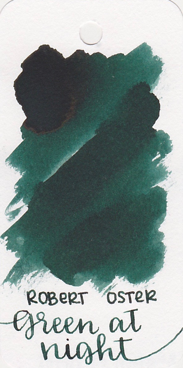 The color... - Green at Night is a dark green with medium shading and sheen.