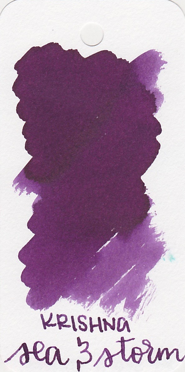 The color... - Sea and Storm is a medium purple. Seasonally, I would use this ink in the fall or winter.