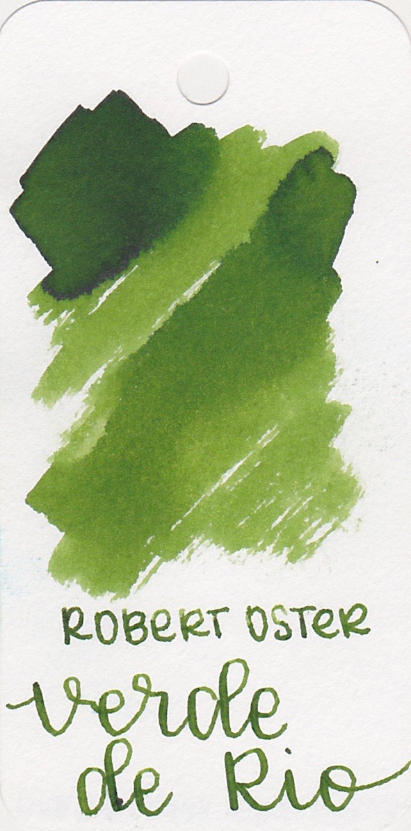 The color... - Verde de Rio is a medium green with shading. Seasonally, I would use this ink in the winter.