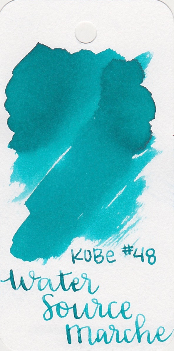 The color... - Water Source Marche is a medium turquoise with shading.