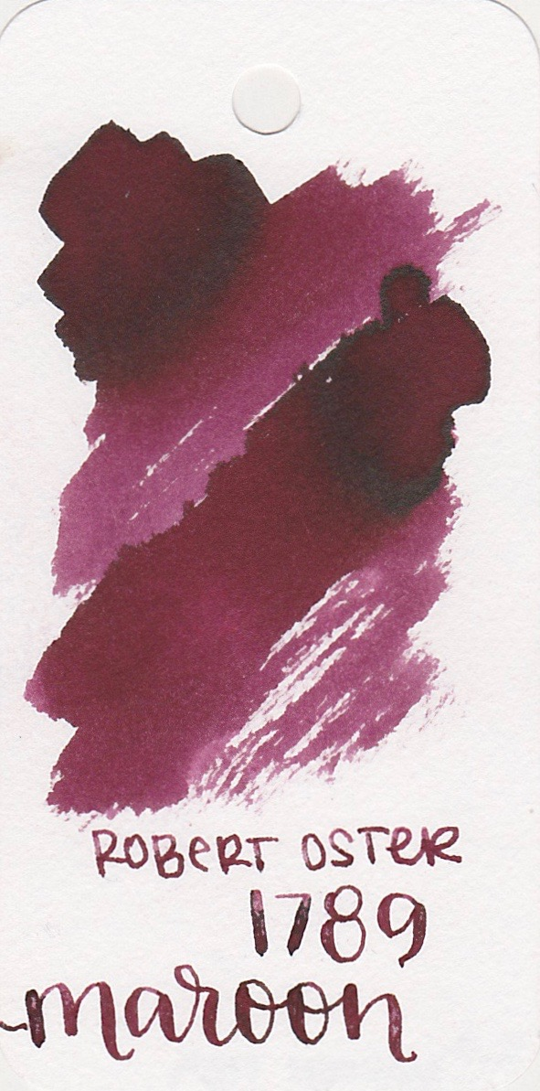 The color... - Maroon 1789 is a dark red with a little bit of sheen.