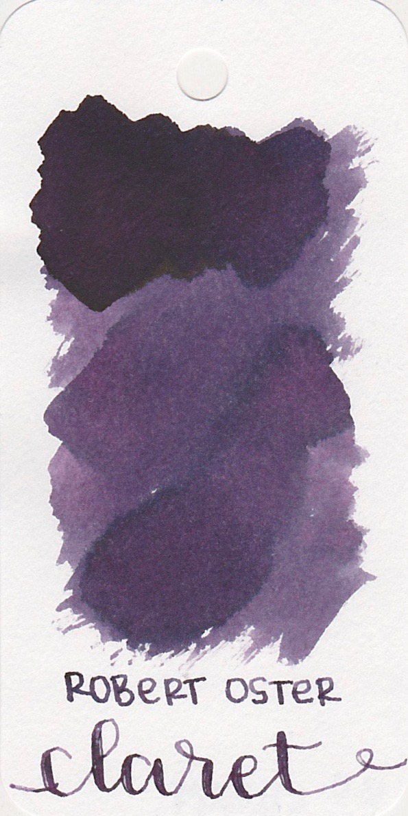The color... - Claret is a dark purple with shading. Seasonally, I would use this ink in the fall.