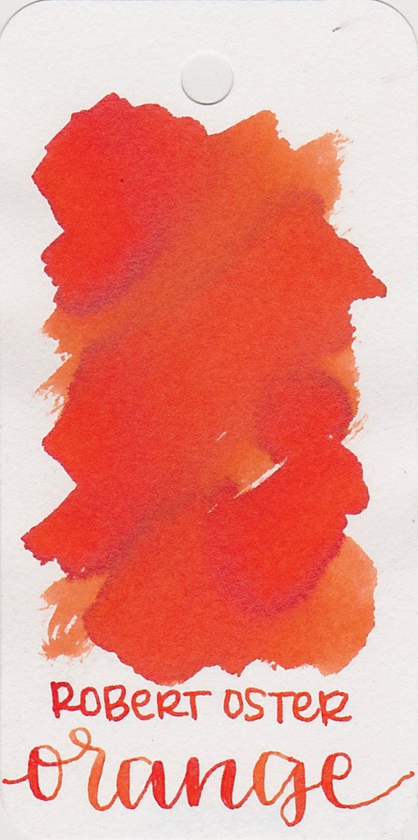 The color... - Orange is well...orange. It's a little bit on the red-orange side.