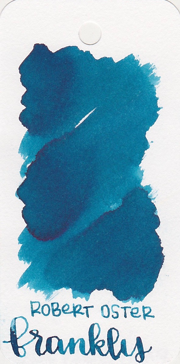 The color... - Frankly Blue is a medium blue with sheen.