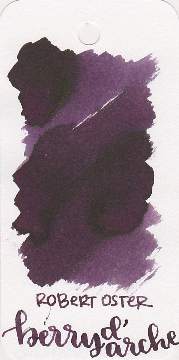 The color... - Berry d'Arche is a dark purple with shading.