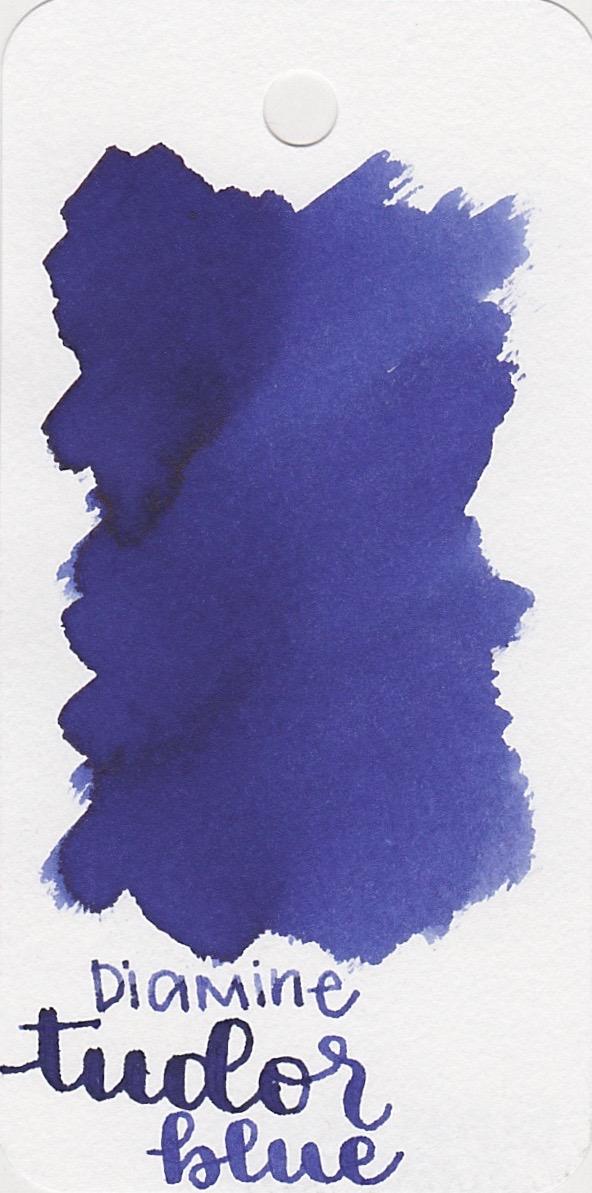 The color... - Tudor Blue is a vibrant dark blue.