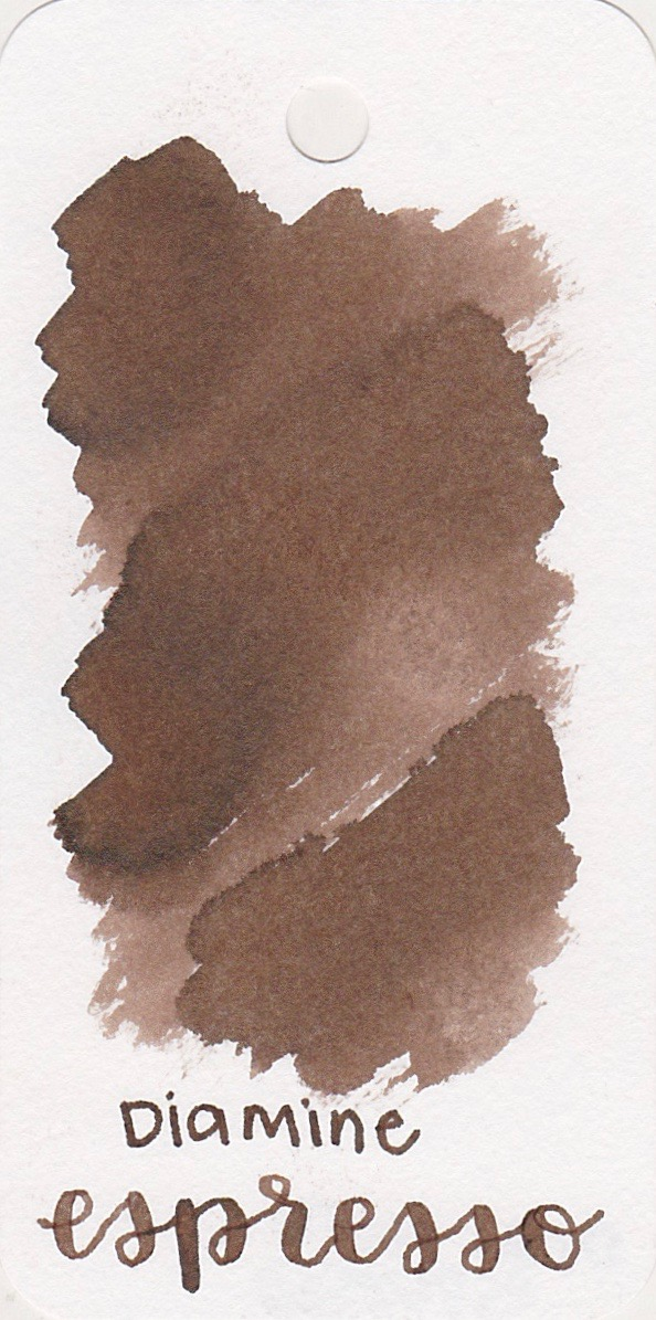 The color... - Espresso is a light brown, with a cool tone.