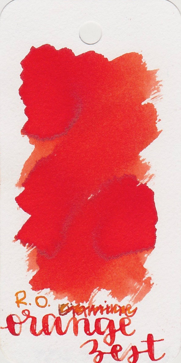 The color... - Orange Zest is a bright red-orange with some shading and a little bit of sheen.