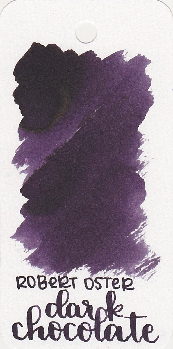 The color: - Dark Chocolate makes the ink sound brown, right??? Well, it's not-it's purple, a dark, pretty purple, but purple nonetheless. I don't know if there was a little bit of color variation between batches or not, but the ink is purple.