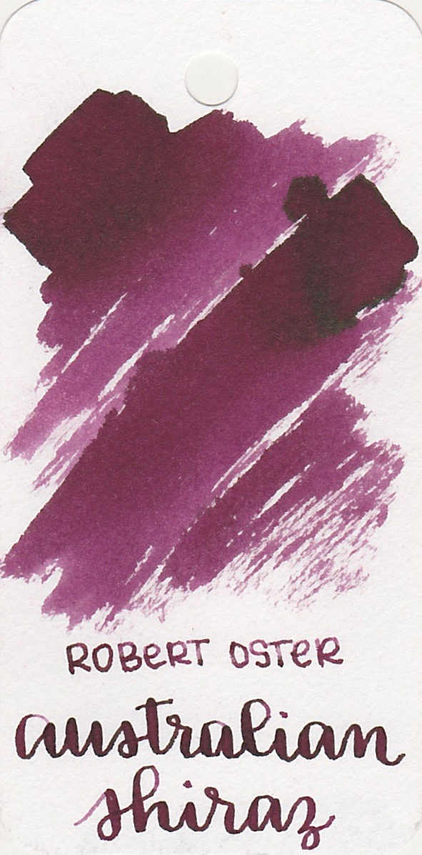 The color... - Australian Shiraz is a purplish-maroon. Seasonally, I would use this ink in the fall.
