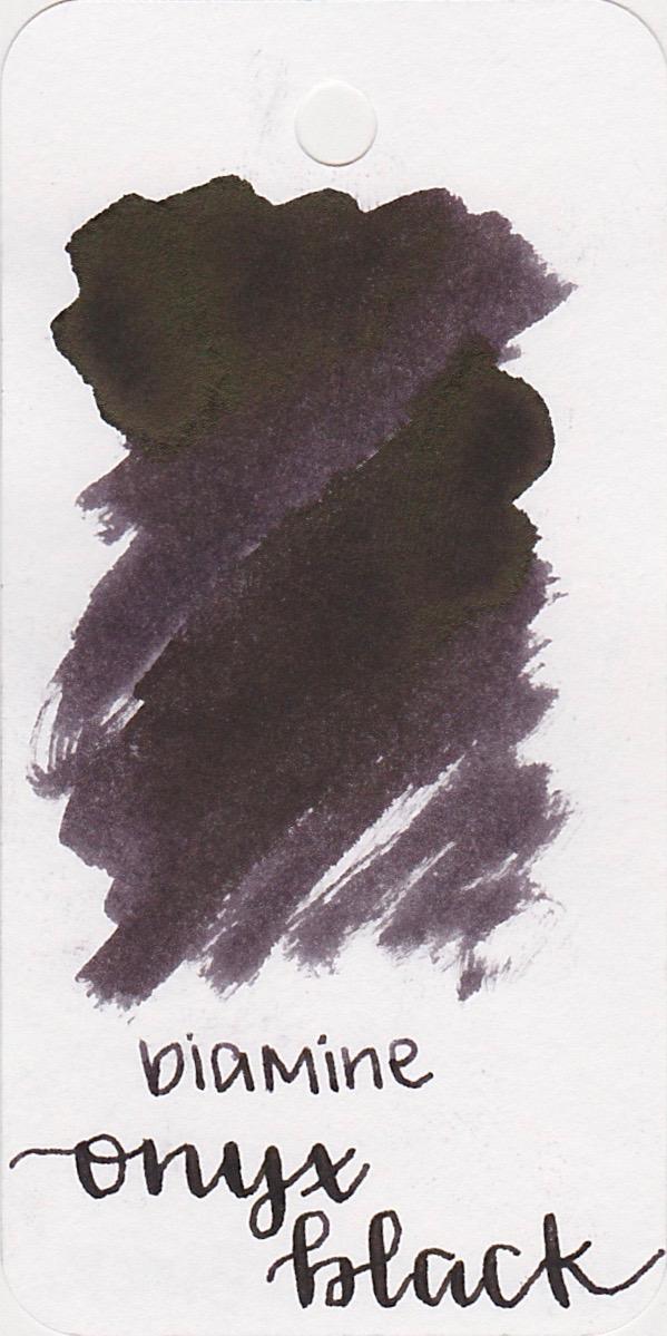 DiamineOnyx Black - I love that this ink has some pretty black sheen.
