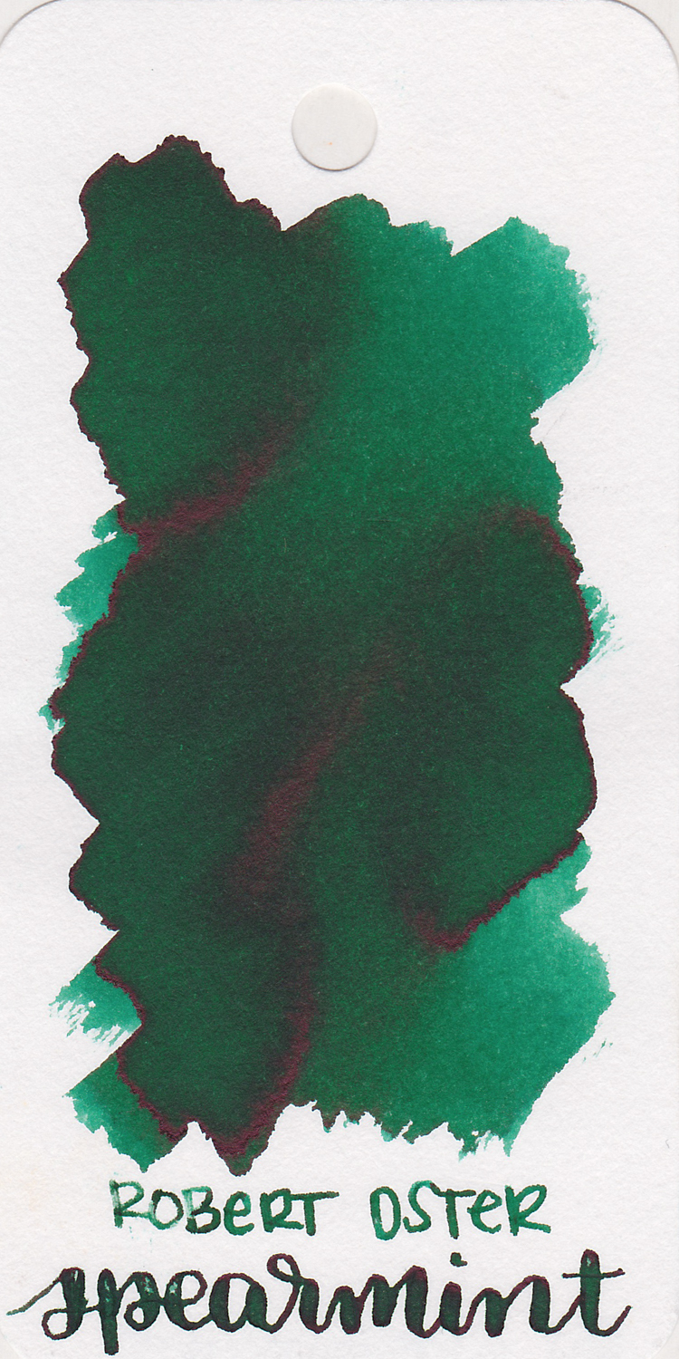 The color... - Spearmint is a medium green with shading and sheen.