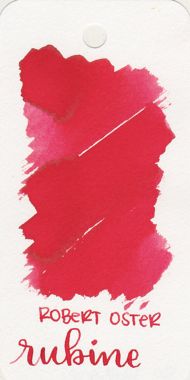 The color... - Rubine is a bright red with shading.