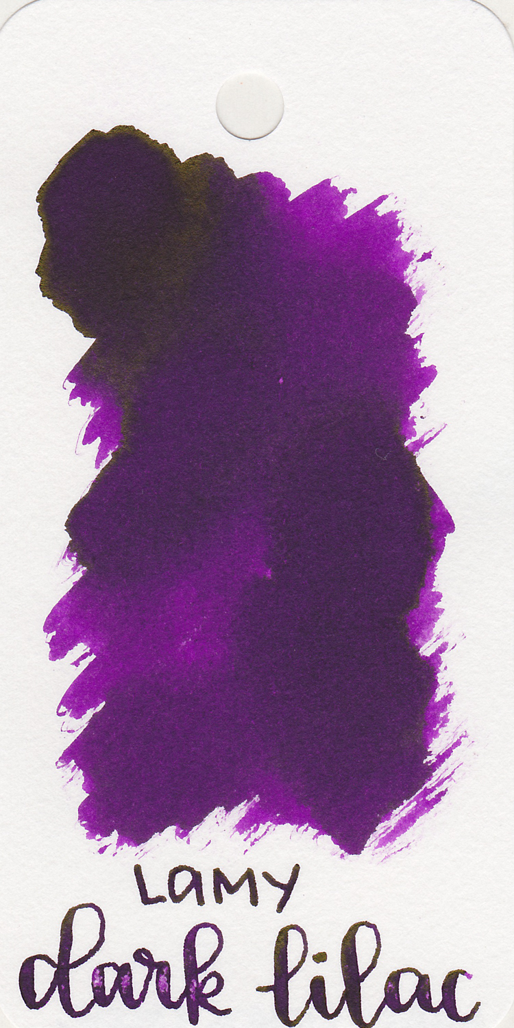 The color... - Dark Lilac is a medium purple, a little bit on the magenta side, with shading and sheen.