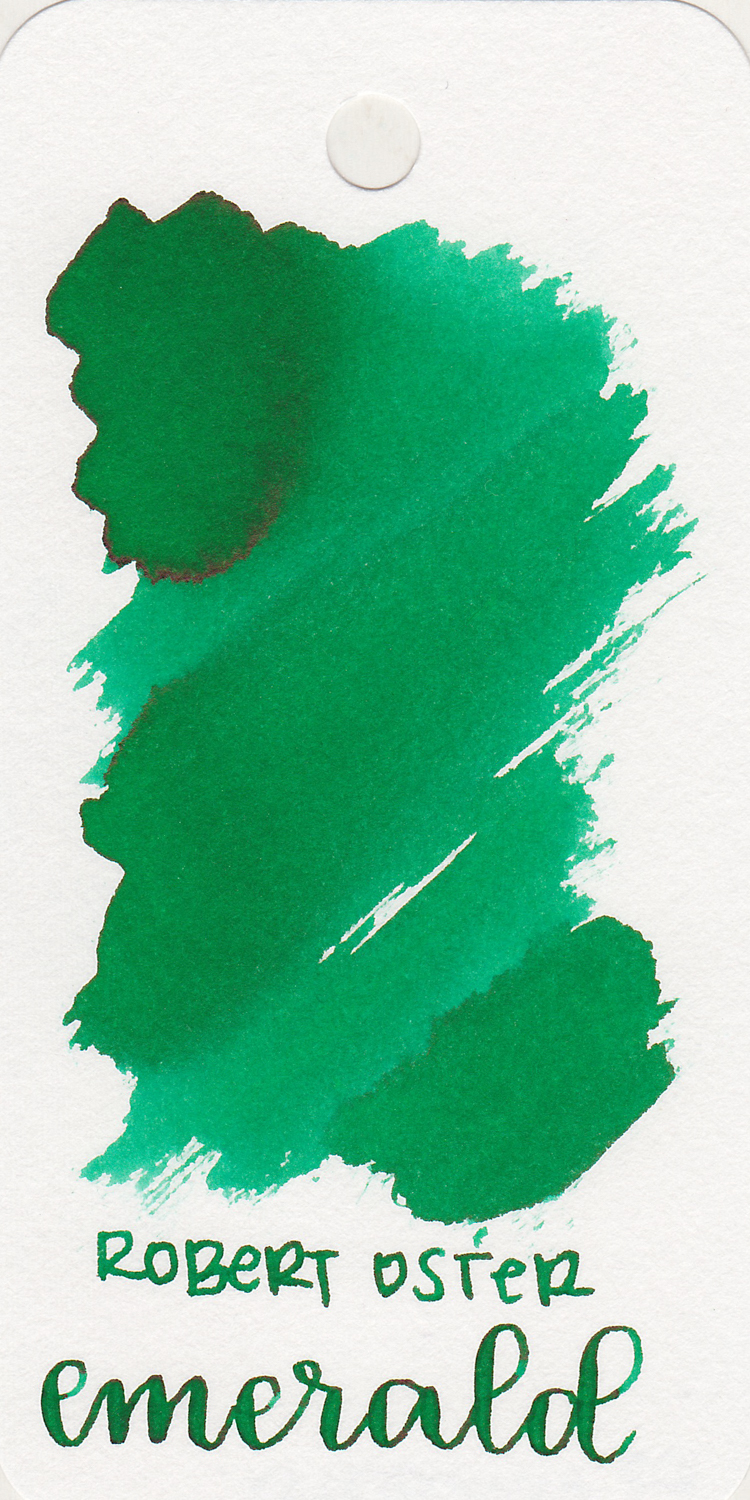 The color: - Emerald is a medium green with some shading and sheen.