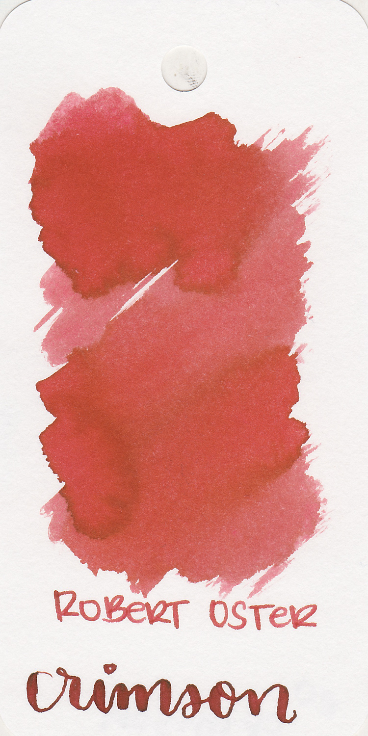 The color: - Crimson is a dusky, muted red.