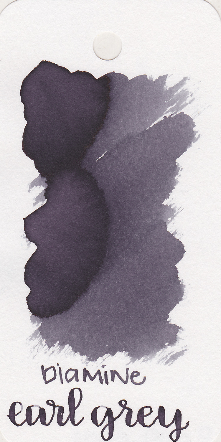 The color: - Earl Grey is a medium grey with shading. It has a blue/purple undertone.