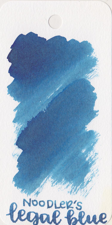 The color: - Legal Blue is a medium blue.