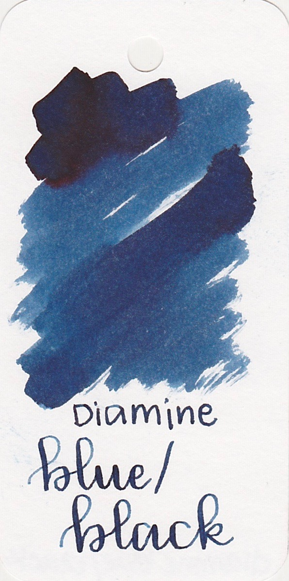 Diamine Blue/Black - Diamine to me is the well-behaved brand. You can usually count on their inks to be consistent and affordable, and this one is no exception.