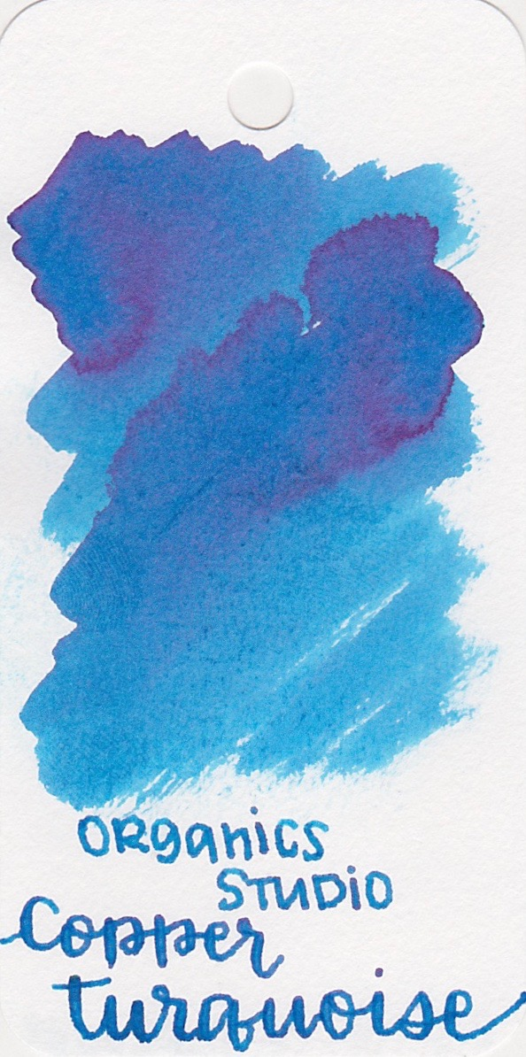 Organics Studio Copper Turquoise. - This one is a lovely light blue with some cute pink sheen.