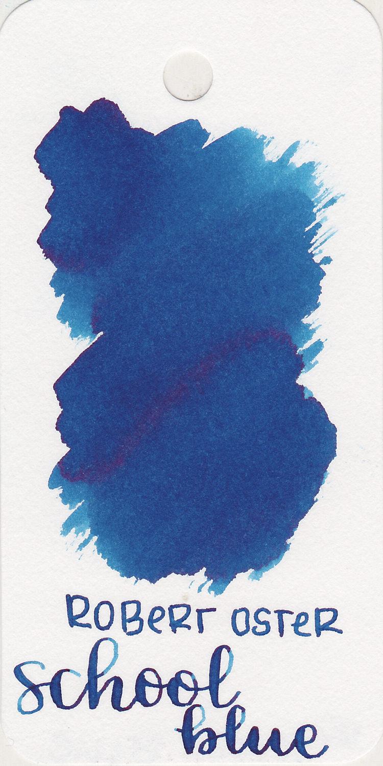 The color: - School blue is a dark blue with shading.