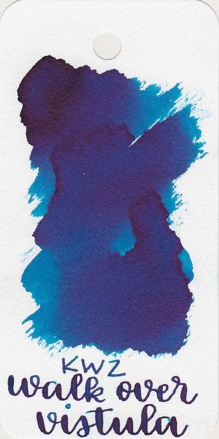 The color: - Walk Over Vistula ranges from a bright turquoise to a dark blue with black sheen. It has a lot of color variation, which makes it really interesting.