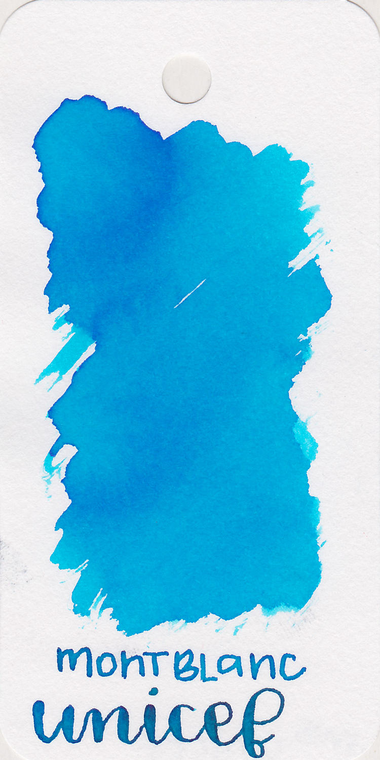 The color: - Unicef is a bright blue with some shading, a great color for summer.