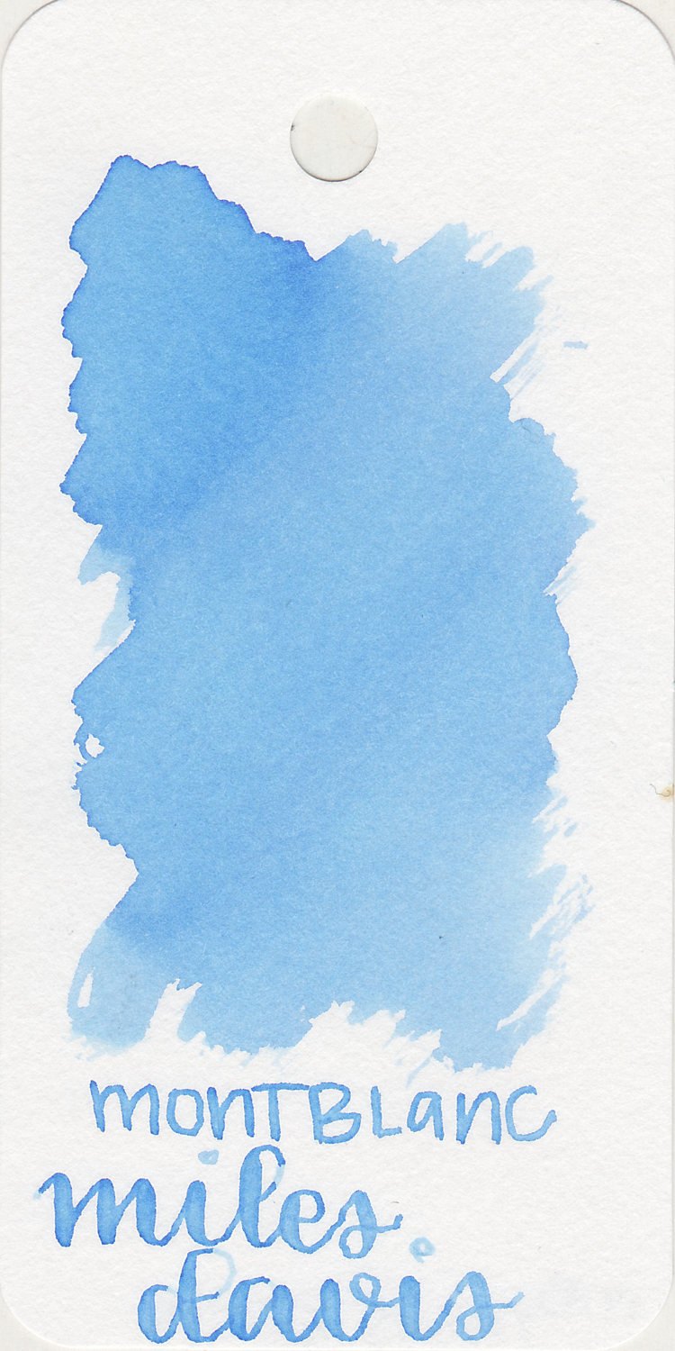 The color: - Miles Davis is a very pale, unsaturated blue. Seasonally, I think I would use this in the late winter or early spring.