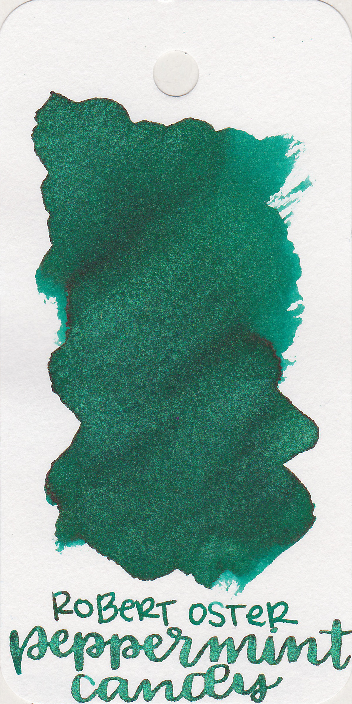 The color: - Peppermint Candy is Robert Oster Peppermint with green shimmer, at least that's my guess from the color and the name. Seasonally, this is perfect for Christmas.
