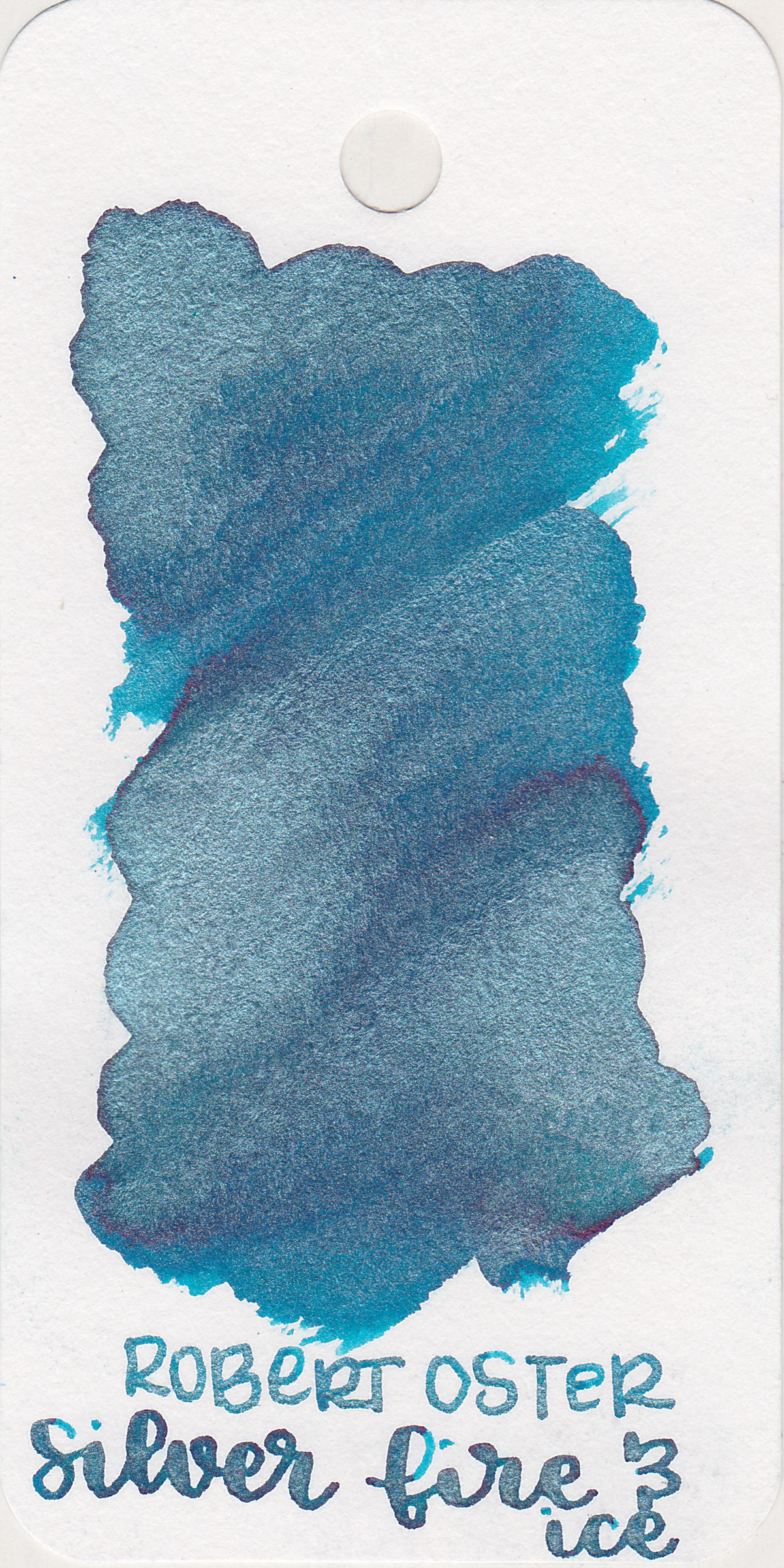 The color: - Silver Fire and Ice is a medium blue with a touch of green and lots of silver shimmer.