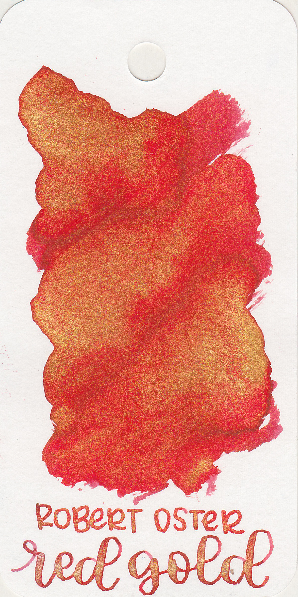 The color: - Red Gold is a bright vibrant red with gold shimmer.
