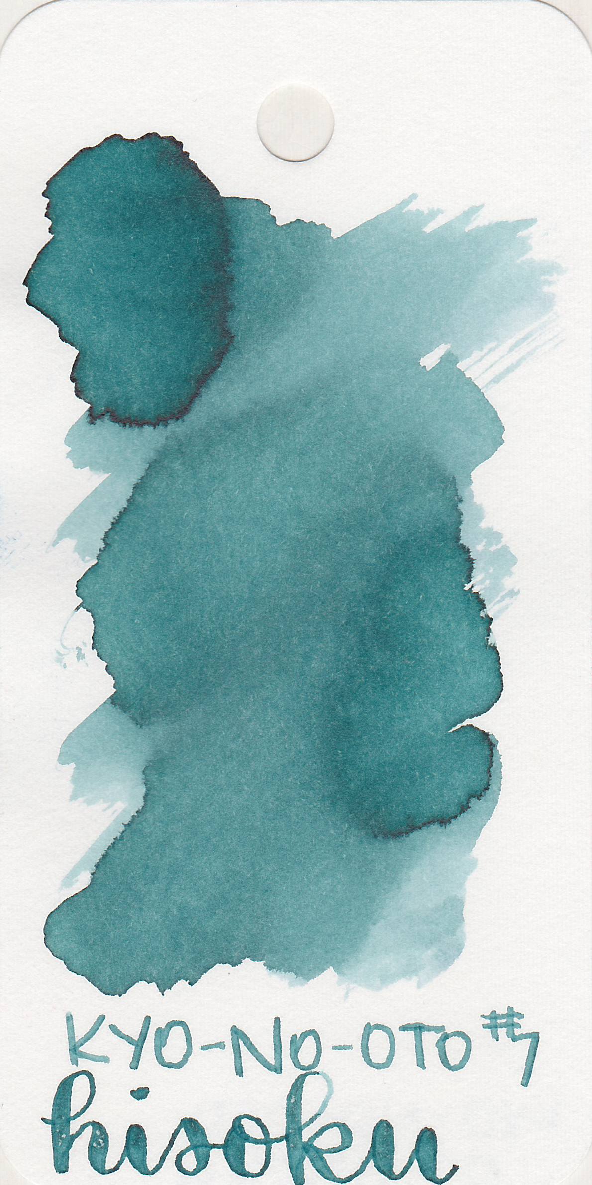 The color: - Hisoku is a light steel blue with shading. Seasonally, I would probably use this ink in the winter.