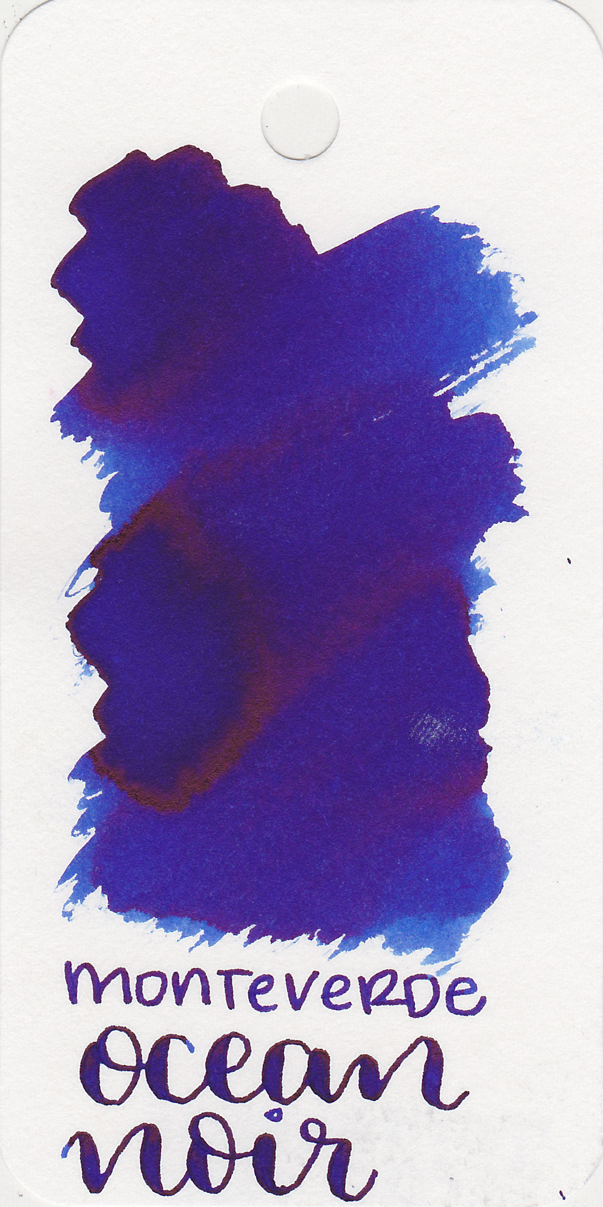 The color: - Ocean Noir is a beautiful blue with bright copper sheen. It is very saturated.