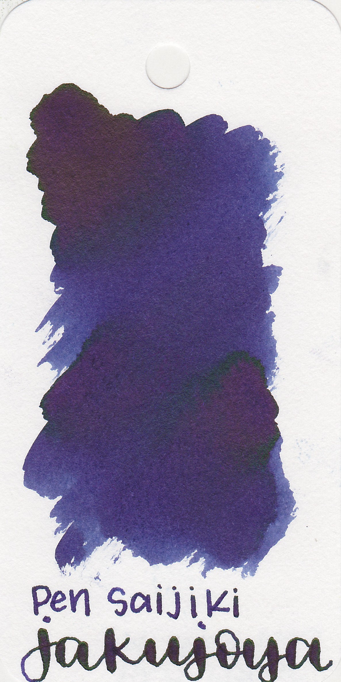 The color: - Jakujoya is a dark purple with some green and copper sheen.