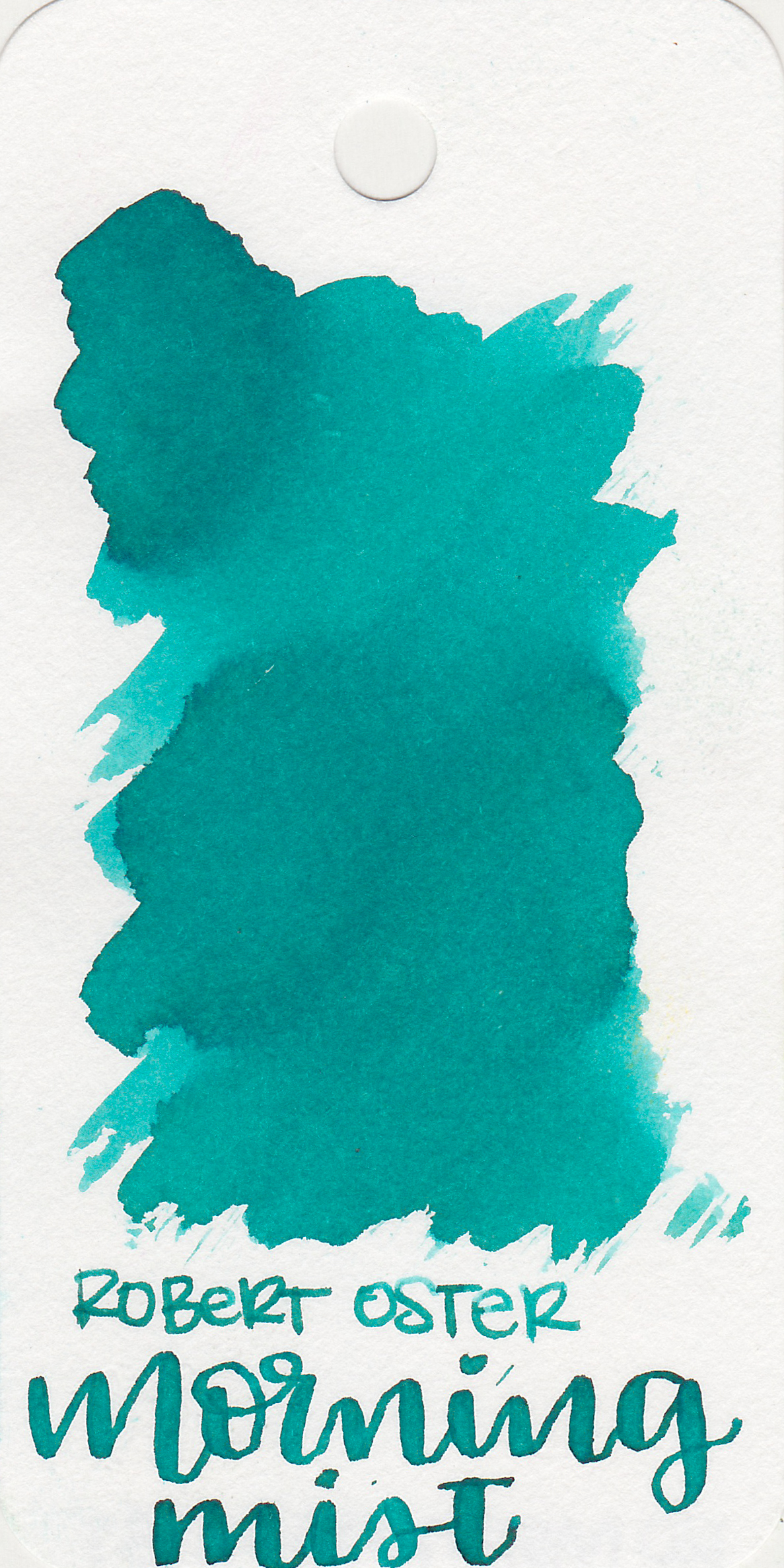 The color: - Morning Mist is a light blue-green.
