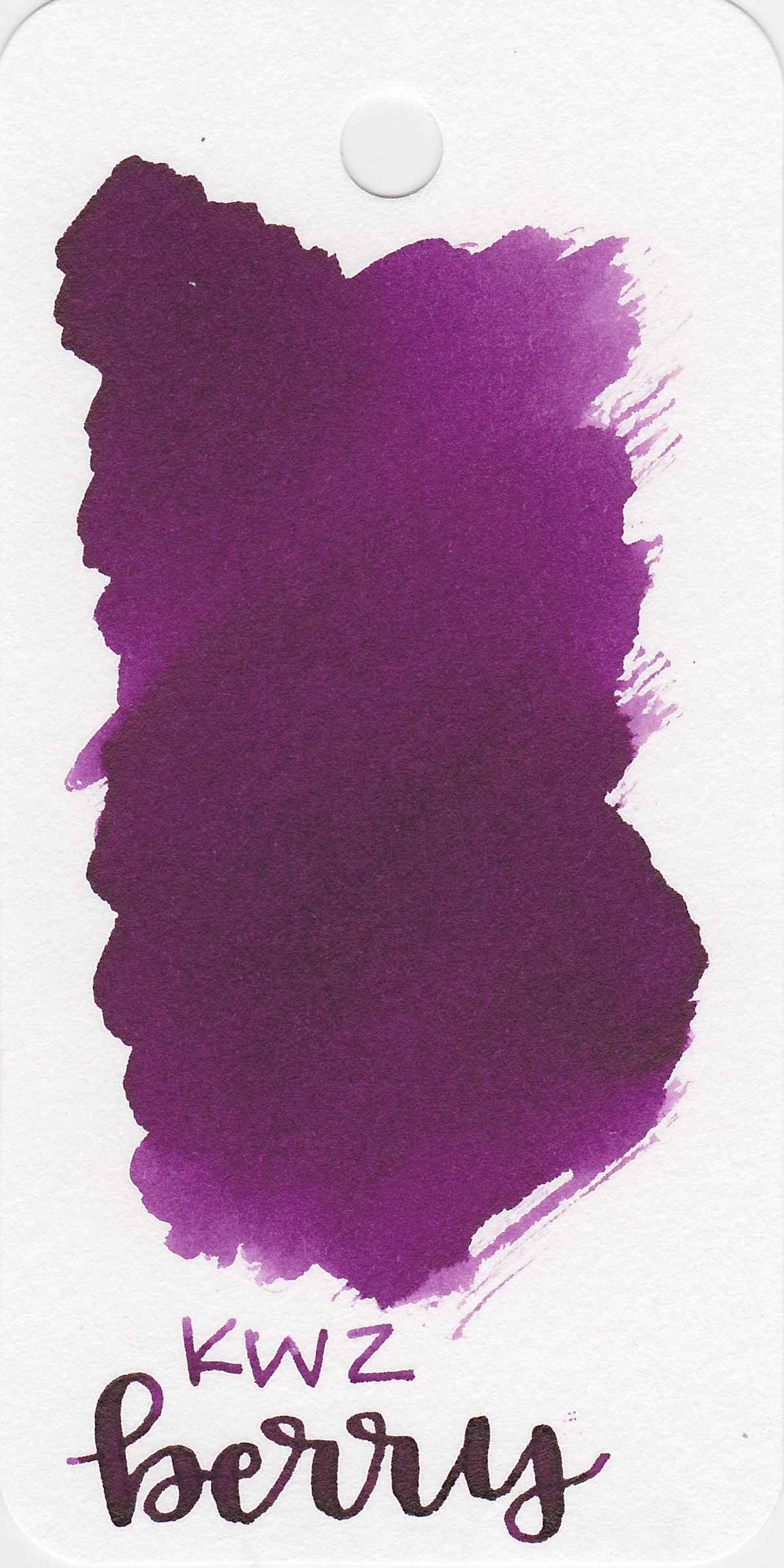 The color: - Berry is a medium, saturated purple.