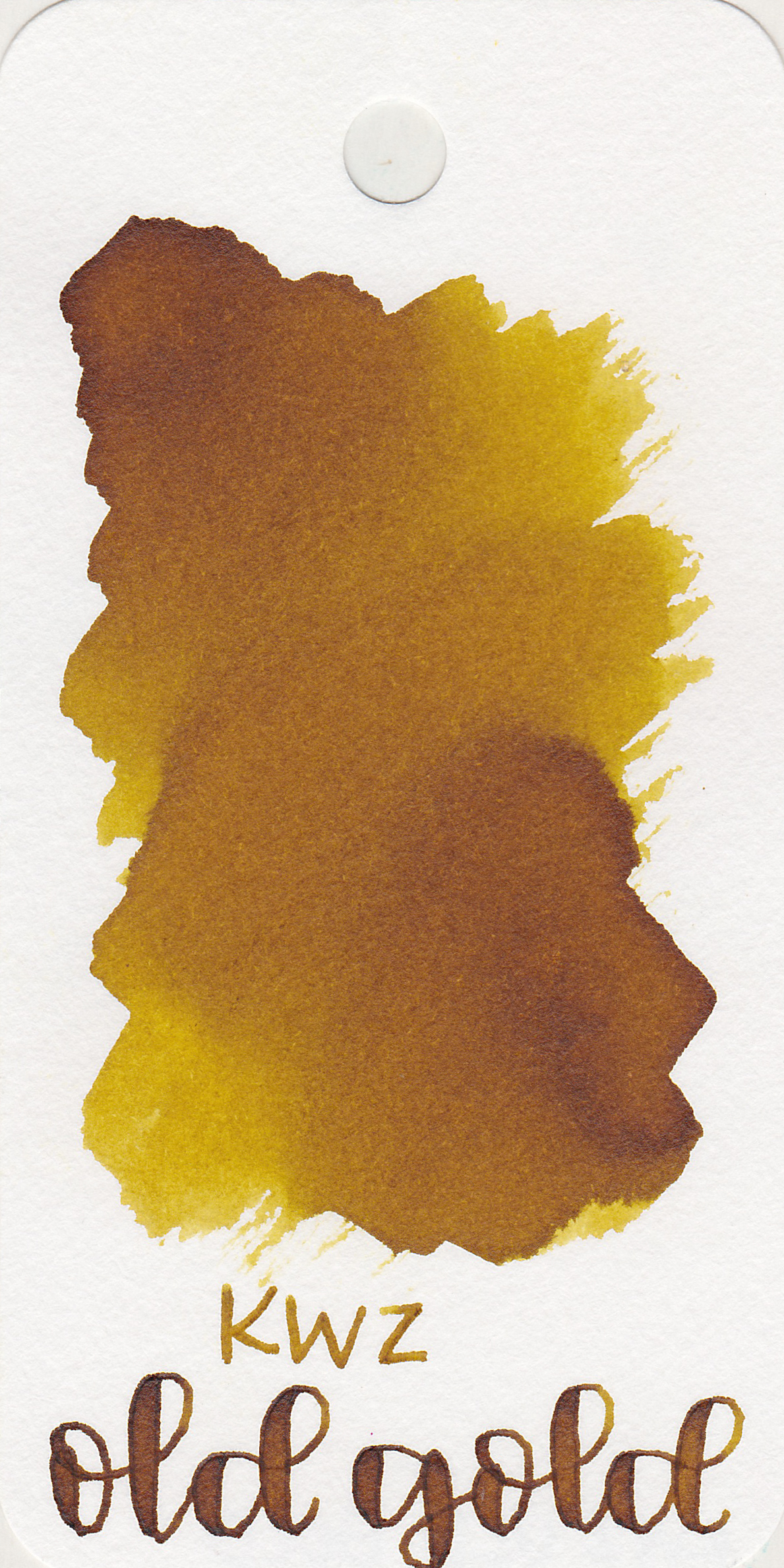 The color: - Old Gold ranges from a dark yellow to a brown color. It's almost a mustard color.