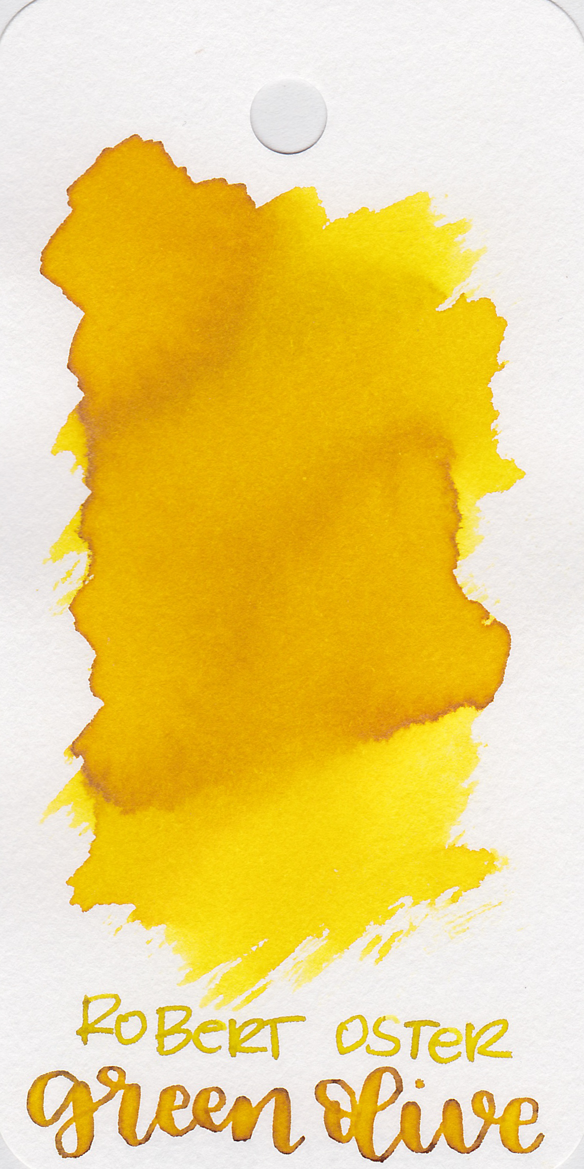 The color: - Green Olive ranges from a bright to medium yellow.